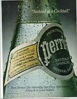 Vintage Print Ad ~ 1980 ~ Perrier ~ Instead of a Cocktail