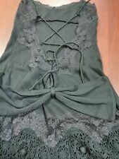 Robe noire Manoush vintage avec lacets dos plongeant