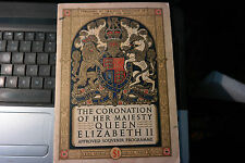The Coronation of Her Majesty Queen Elizabeth II Approved Souvenir Programme