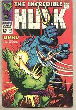 Incredible Hulk #110-1968 fn Umbu The Unliving Ka-Zar