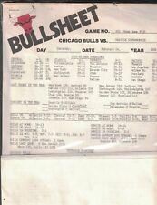 Chicago Bulls V Seattle Supersonics Febrero 14 1981 Bullsheet Media Paquete