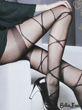 Quality Formal Black Tights Sheer PANTYHOSE with Light Pattern Stockings