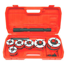 New Ratchet Pipe Threader Kit Set Ratcheting With5 Dies And Case Gas Free Shipping