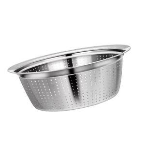 Silber Salatschüssel Küche Gemüse Salat Kochen Haus Sieb Edelstahl 2020
