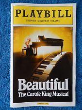 Beautiful - Stephen Sondheim Theatre Playbill - February 2015 - Jessie Mueller