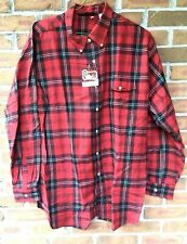 WOOLRICH Mens Size XL 42 / 2XL 44 Red & Black Plaid Long Sleeve Button Down New