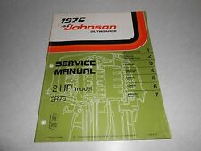 1976 2 hp Genuine JOHNSON EVINRUDE Outboard Repair & Service Manual 2hp