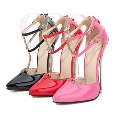 Women Sexy Super High Heels Double Strap Sandals Nightclub Catwalk Stiletto Shoe