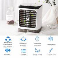 1X Tragbare USB Mini-Klimaanlage Ventilator Luftkühler Air Cooler Befeuchter DE