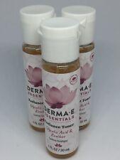 New Derma E (3) Essentials Radiance Toner 1 fl. oz./30 ml Glycolic Acid/Rooibos