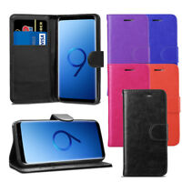 For Samsung Galaxy S9 G960F/DS Case - Leather Wallet Flip Case Cover + Screen