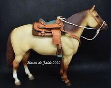 model horse western saddle set selle miniature au 1/9è pour cheval Breyer