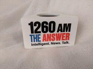 Used White Triangle Radio Station Studio Handheld Microphone Mic Flag St. Louis