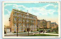 *1940s St. Elizabeth Hospital Building Belleville Illinois Vintage Postcard C72