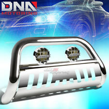 FOR 05+ NISSAN FRONTIER/PATHFINDER CHROME BULL BAR GRILLE GUARD+SMOKED FOG LIGHT