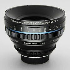 Cinematics Cine lens Zeiss Contax 25mm f2.8 Canon EF mount for DSLR Canon BMCC