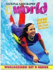 National Geographic World Magazine 1994 July worldcards
