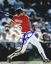 LARRY PARRISH  TEXAS RANGERS   ACTION SIGNED 8x10