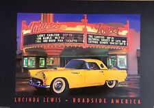 3 x 2 Ft Route 66 High Gloss Poster from Lucinda Lewis Yellow Thunderbird