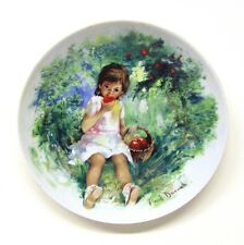 """Limoges-Turgot, France """" Marie-Ange """" Collector Plate Bradex no. 18-L52-1.1"""