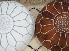 free shipping set of 2  Handmade Moroccan Leather Pouf Ottoman