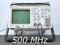 HP / Agilent 54615B 2-channel 500 MHz Oscilloscope + 3 New Probes. Very Clean