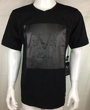 Authentic Versace Shirt Medium Black Embossed Print New