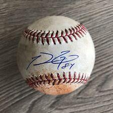 Prince Fielder 2015 Signed Game Used Single Baseball MLB Holo Detroit Tigers