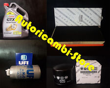 KIT DE MANTENIMIENTO FILTROS + 5 LT CASTROL GTX 10W40 ALFA 147 1.9 JTD 85KW