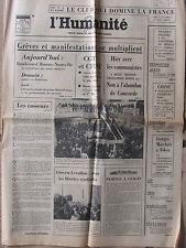 L'Humanité (6 avril 1976)  Non abandon Concorde - Raff Donges -Club des 25 - Lip