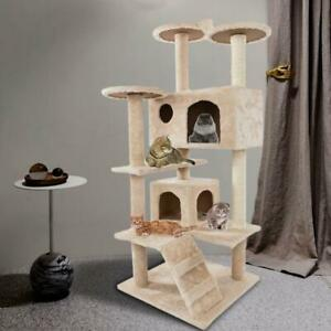 """52"""" Cat Tree Condo Tower Pet Kitty Play Climbing Furniture w/ Scratching Post"""
