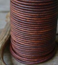 5 metri laccio cuoio marrone 3 mm, laccio cuoio cognac, corda cuoio diy collane