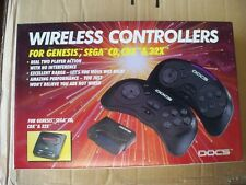 2 Doc's Sega Genesis Wireless Controllers New in Box! Wire less Controller Pad