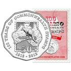 2013 100 Years of Commonwealth Stamps 50c Fifty Cent Coin On RAM Card UNC