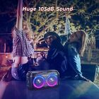 W-KING 80W Super Bass,Huge 105dB Sound Portable Wireless bluetooth party speaker
