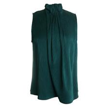 Emporio Armani Sleeveless Top in Emerald 8 44 $426 NWT
