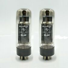 NEW NESSTONE EL34 **PAIR** Tubes Sweet Tone 6CA7 Valves Tested Tightly Matched