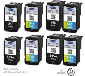 Remanufactured Canon PG545/XL CL546/XL Ink Cartridges Canon TR4550 Printer