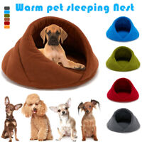 Pet Dog Puppy Cat House Bed Nest Warm Soft for Winter Sleeping Bag Mat Pad