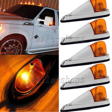5pcs Universal Amber Cab Marker Roof Top Clearance Light Kit for Truck Trailer
