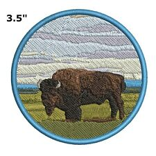 Buffalo Embroidered Patch Iron Sew-On Souvenir Travel Natures Parks Applique