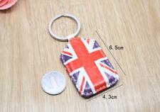 British Style Union Jack England Flag PU Retro Keychain Key ring