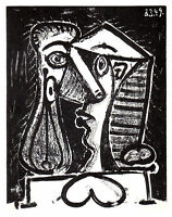 PABLO PICASSO LITHOGRAPH w/COA 1950 Exclusive print COMPOSITION HEAD 2. RARE ART