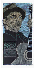 Jakob Dylan & Three Leos Aladdin Theater Original Signed Silkscreen Poster