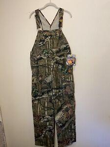 NWT Mossy Oak Camo Youth Boy's Size XL 16/18 Bib Overalls Adjustable Hunting