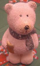 Weihnachten Eisbär weiß mit Stern und Schal 11 x 6,5 cm Keramik Deko Neu