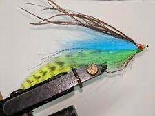 3 Each 3/0 fl blue and chartreuse Lefty's Deceiver