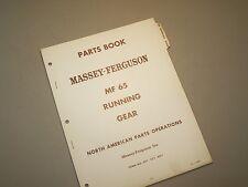 MF 65 WAGON RUNNING GEAR PARTS BOOK MANUAL CATALOG by MASSEY FERGUSON TRACTOR
