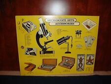 Vintage Science Class 1960's Microscope Sets Sign - 24in X 18.5in Great Color