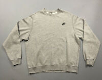 Vintage 90s Men's Gray Nike Sportswear Swoosh Crewneck Sweatshirt Sz XL Gray Tag